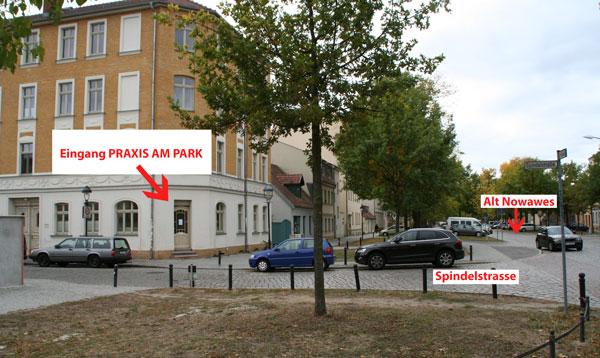 Eingang Praxis am Park Babelsberg